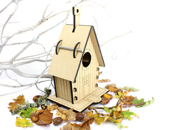 Barrow Wood - The Blue Tit House (Standard without personalisation)