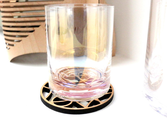 Maple set of 4 coasters (glass not included)