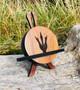 Mahogany Dinosaur Footprint Coaster Set of 4 with Stand