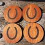 Mahogany set of 4 coasters