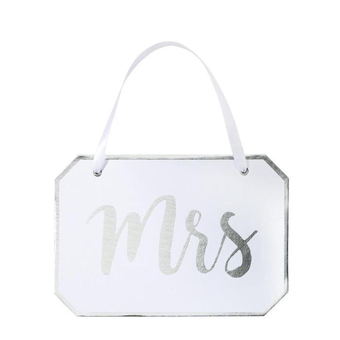 'Mrs' Decorative Sign