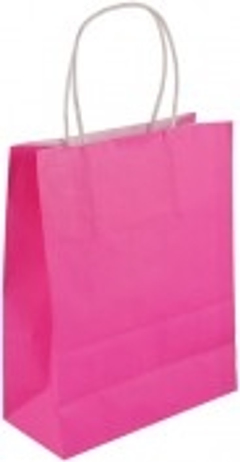 Bright Pink Party Bag 22 X 18 X 8cm(Large)