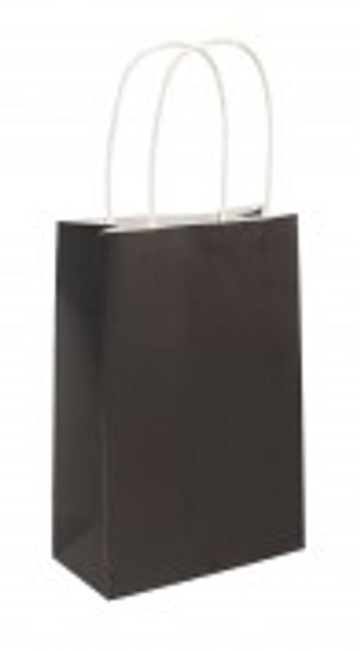 Party Bag, Black with Handles, 14Wx21Lx7Dcm