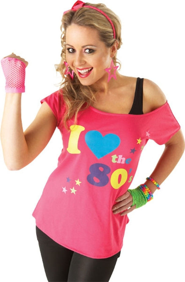 I love the 80's T-Shirt - Pink