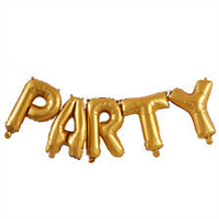 Balloons - Party- Gold