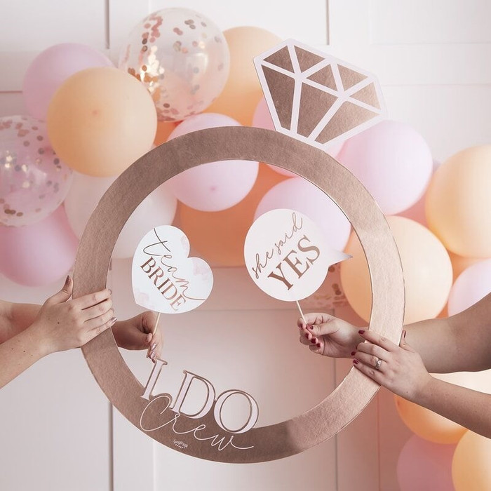 Blush - Hen Party Photo Frame Ring