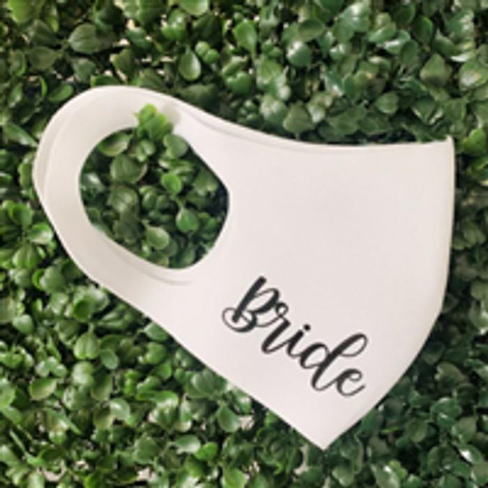 personalised wedding face mask