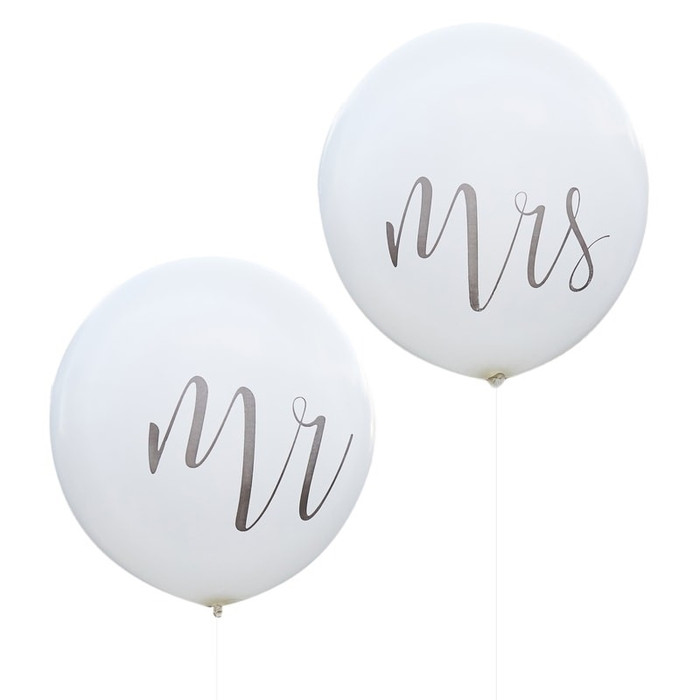 Mr & Mrs Huge 36 Inch Feature Balloons
