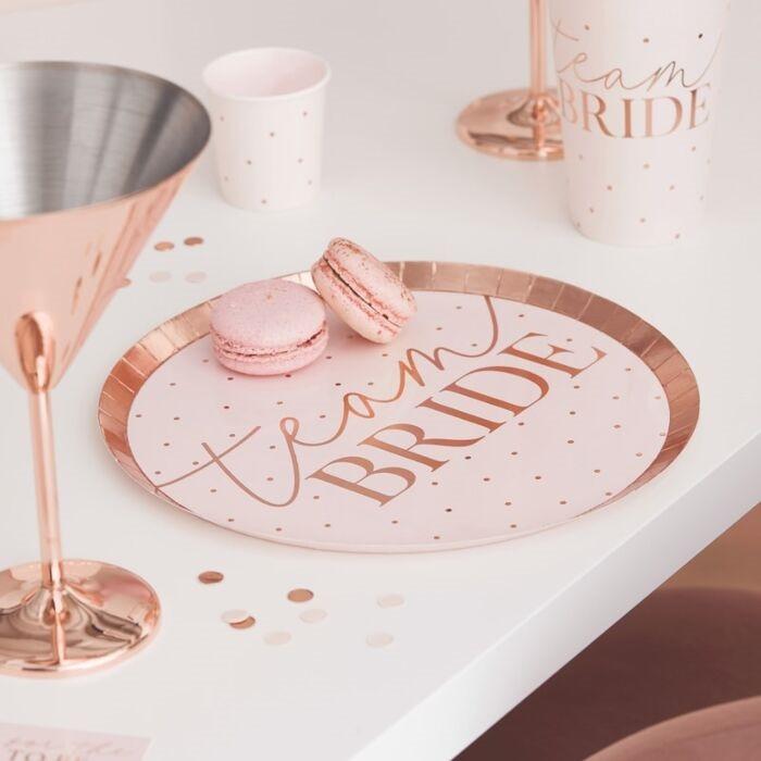 Blush -  Team Bride, Hen Plates, 8