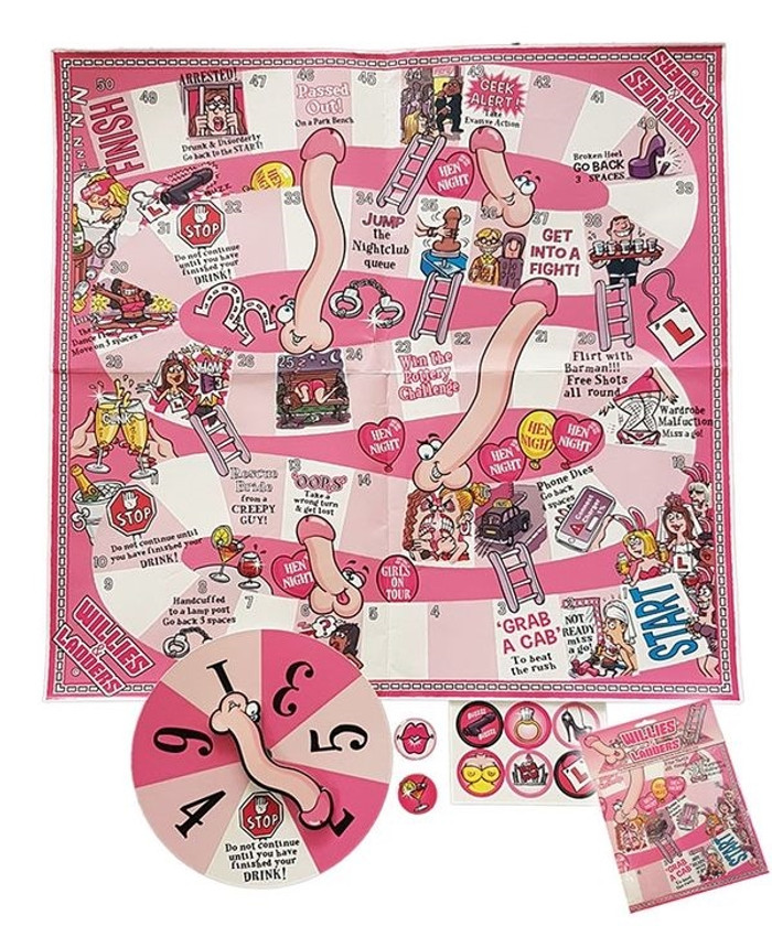 Hen Night Willies and Ladders Game