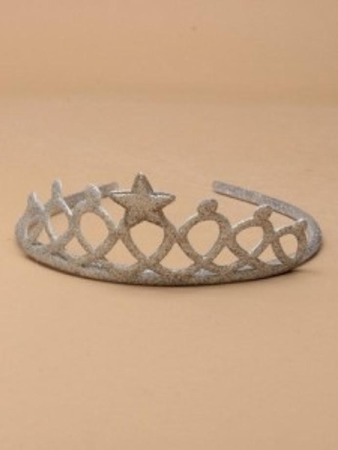 Silver Glitter Foam Aliceband Tiara