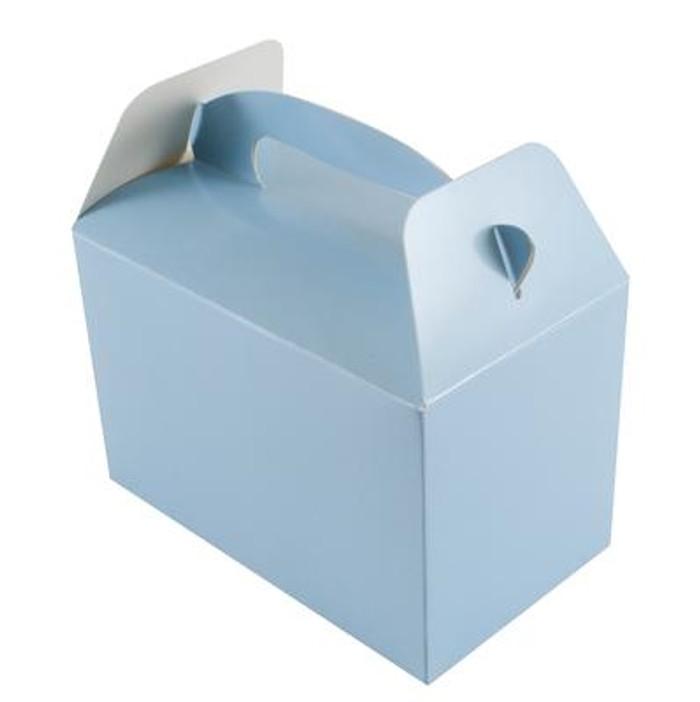 Party Box, (6) Lt Blue With Handles, 10lx15wx9hcm