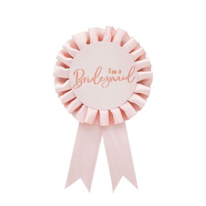 Badge - Bridesmaid Rose Gold