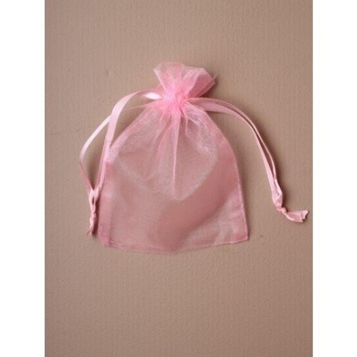 Organza Gift Bag 15 x 11cm, Pink