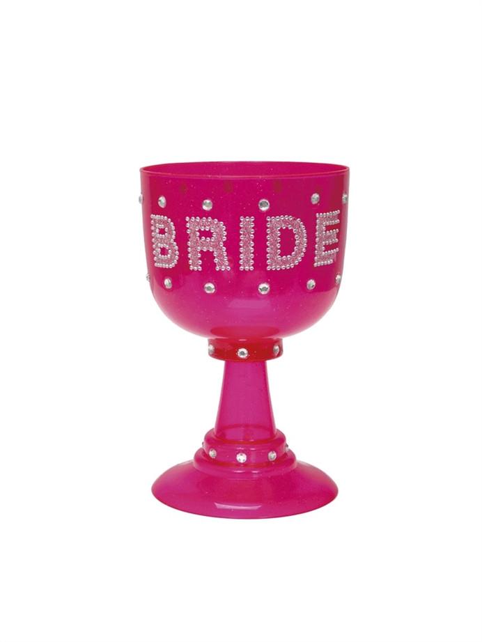 Bride Goblet Plastic Pink