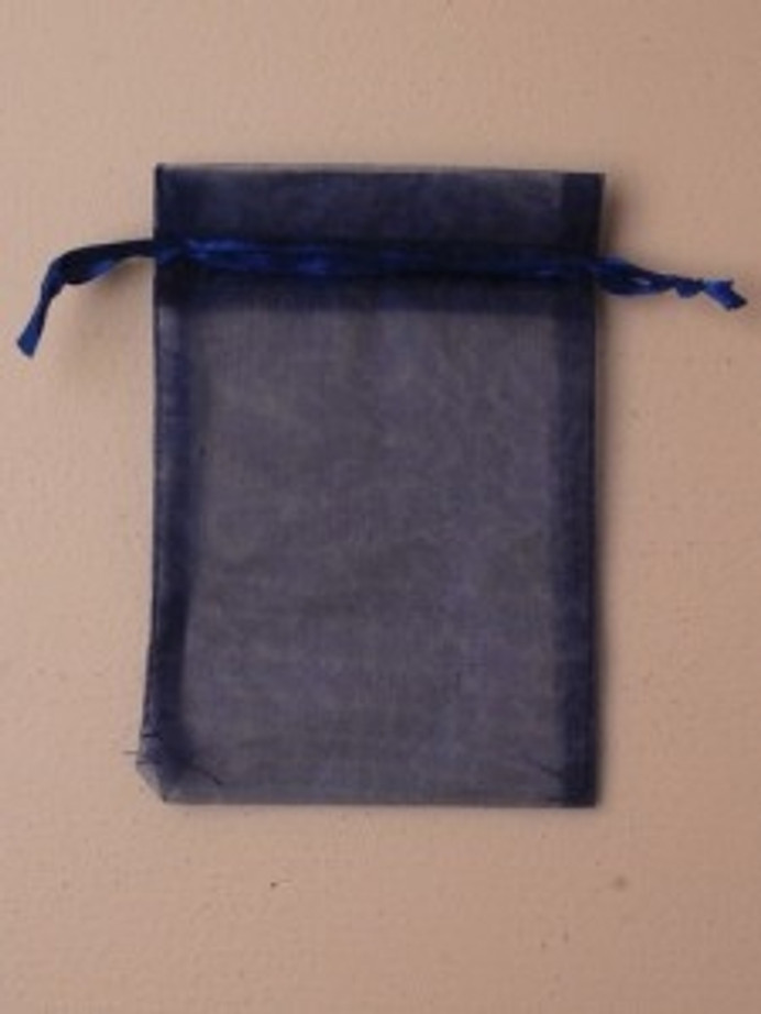 Organza Gift Bag 15 x 11cm, Navy Blue