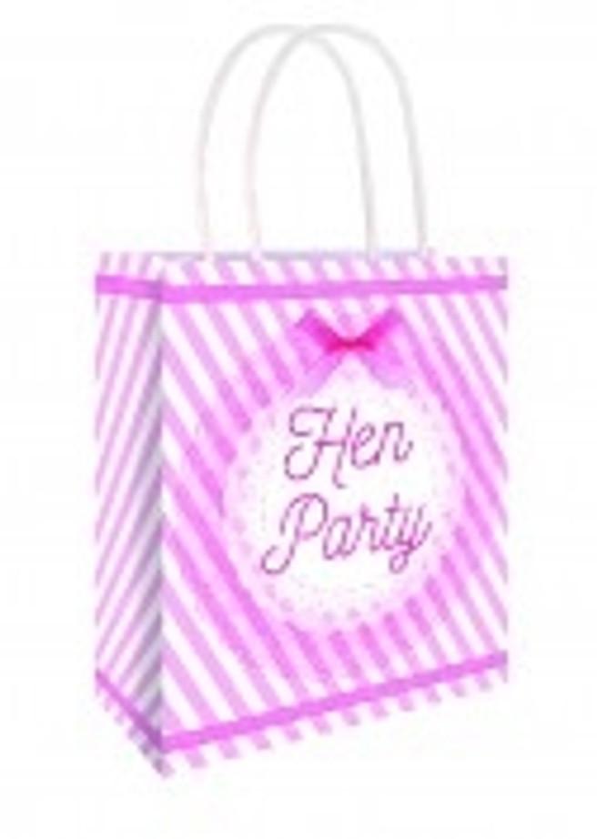 Vintage Pink Hen Party Bag 22 X 18 X 8cm