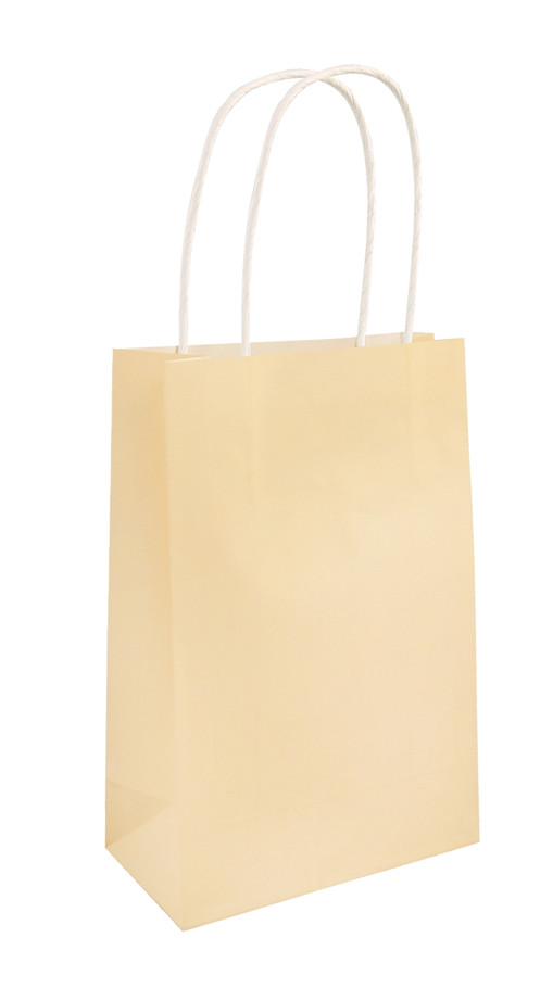 Party Bag, Ivory with Handles, 14Wx21Lx7Dcm