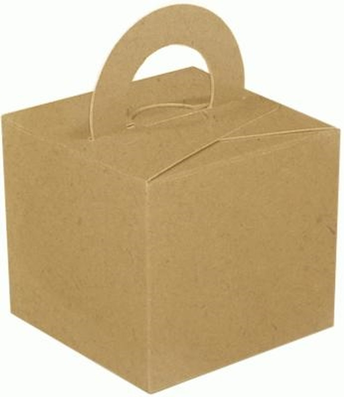 Small Party Box, (10) Craft Natural With Handles