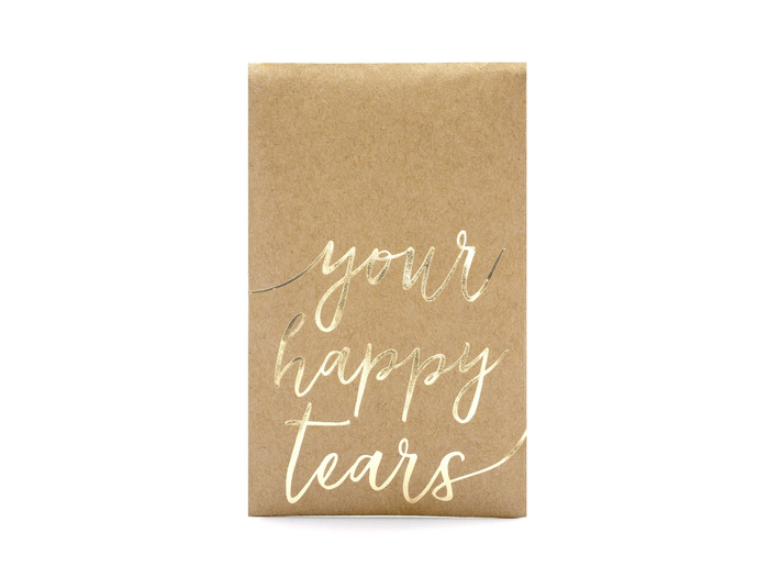 Pocket tissues Your happy tears, gold, 7.5x12cm