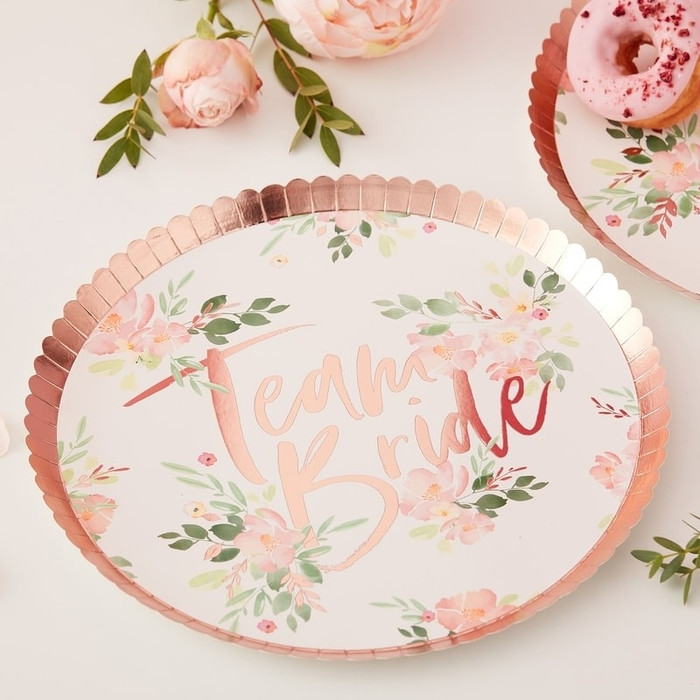 Floral Hen Party -Plate