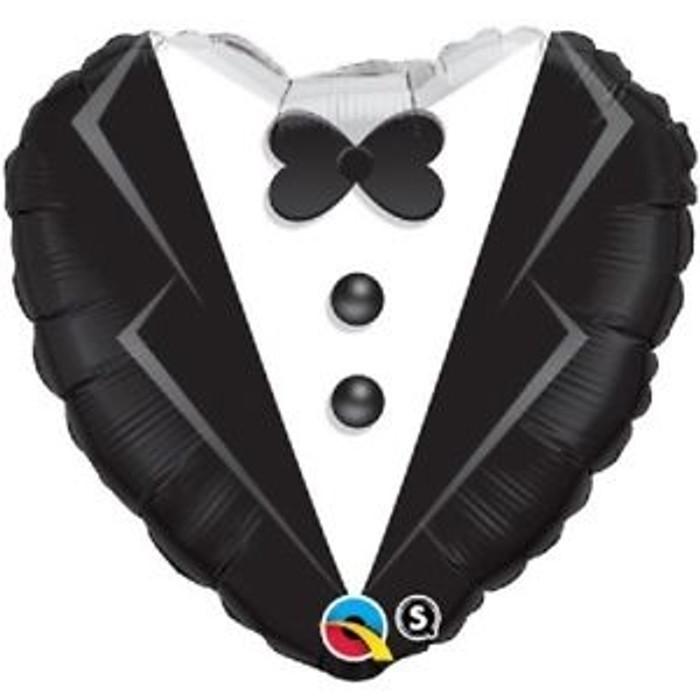 "18"" Heart Wedding Groom Foil"
