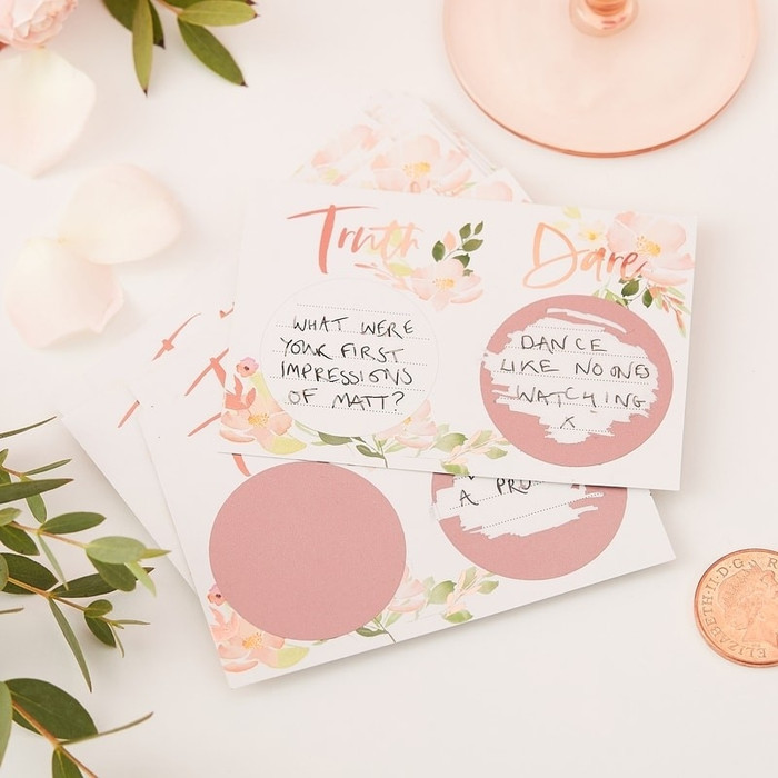 Truth Or Dare Hen Scratch Game - Floral Hen Party