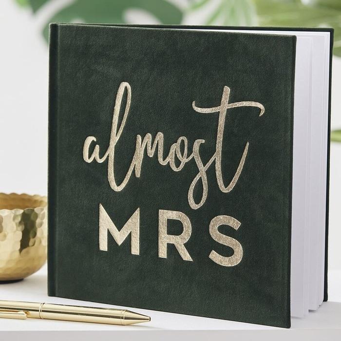 Green Velvet Almost Mrs Memory Book