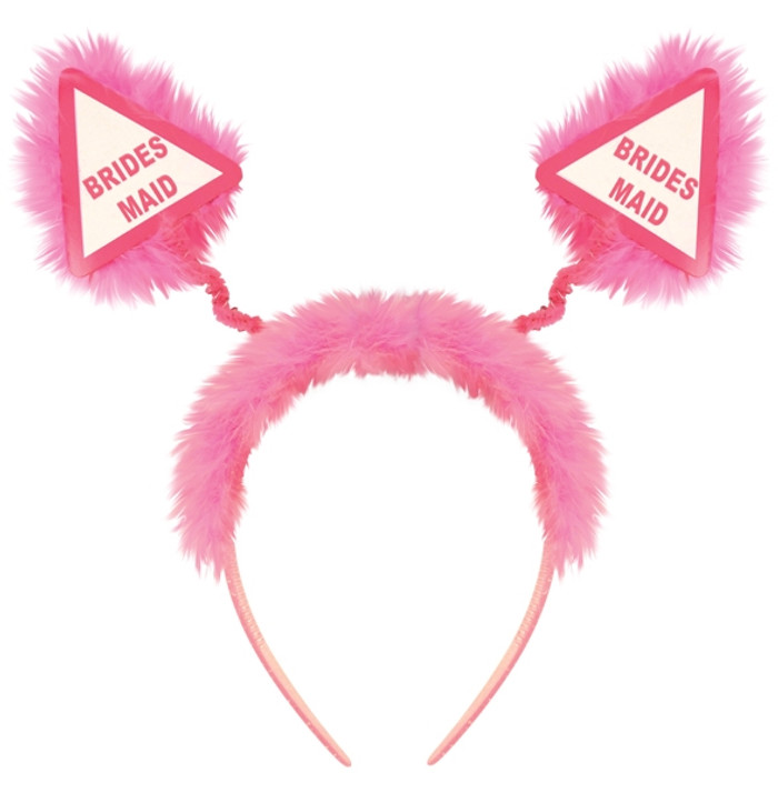 Head Boppers, Bridesmaid Pink With Fur