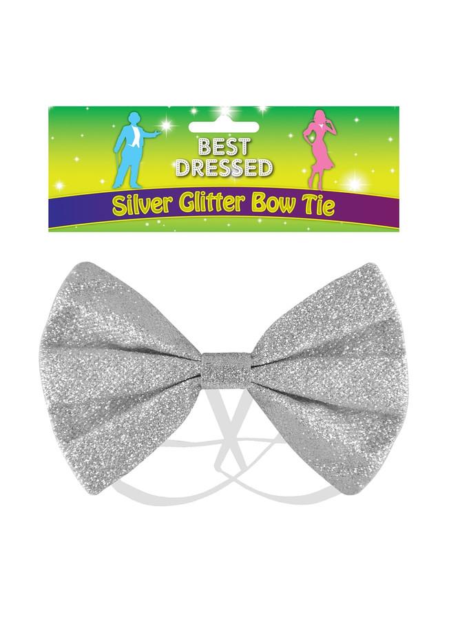 Bow Tie Glitter Silver