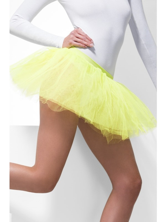 Tutu Underskirt, Neon Yellow, 4 Layers, 30cm Lon
