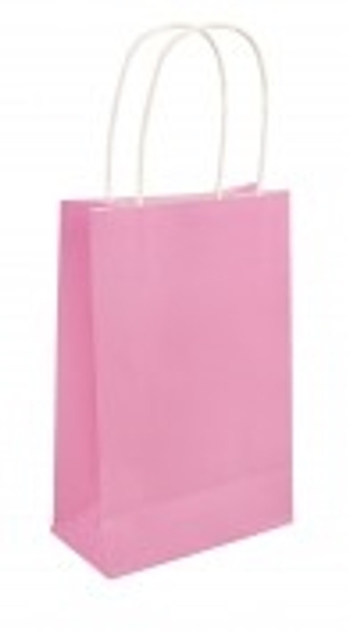 Party Bag, Baby Pink With Handles, 14Wx21Lx7Dcm