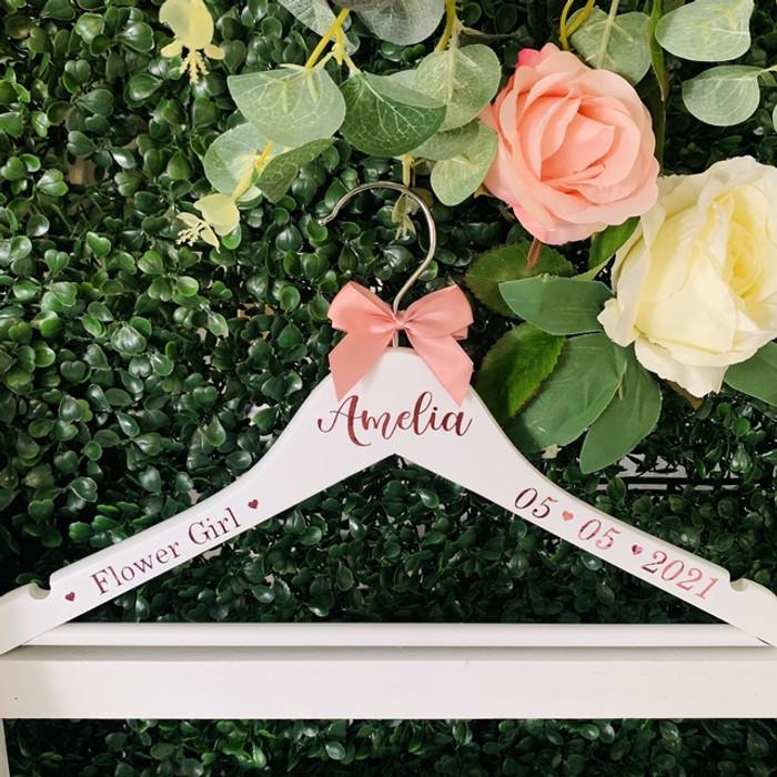 personalised flower girl hanger