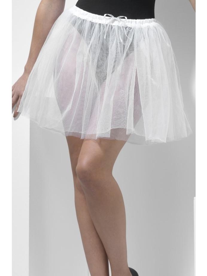 Petticoat Underskirt, Longer Length 34cm, White,