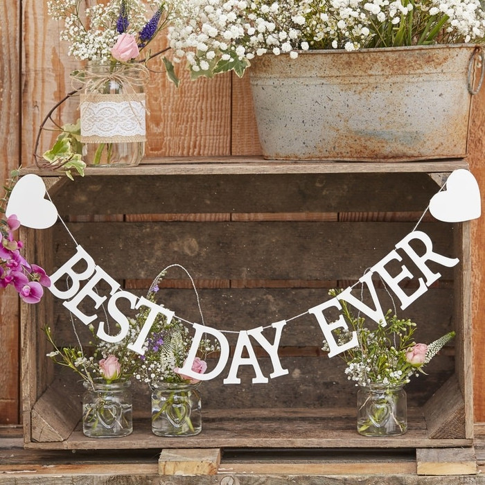 Wooden Bunting - Best Day Ever