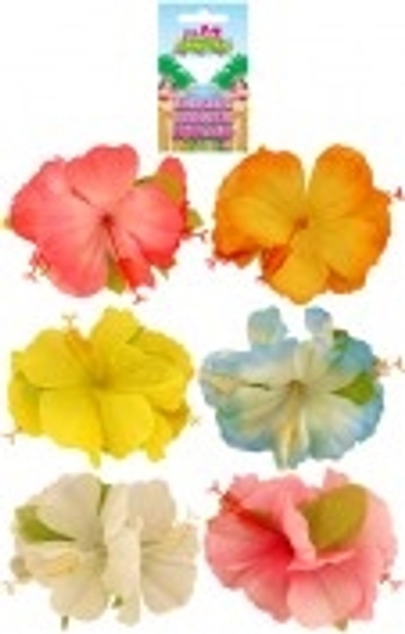 Hibiscus Flower Hair Clip Assorted Colours