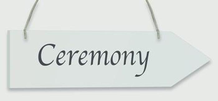 Wooden Arrow Whitewash 30.5cm x 7.6cm Ceremony 1pc