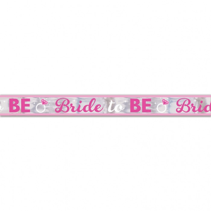 Hen Party Pink Foil Banner Bride to Be 7.6m