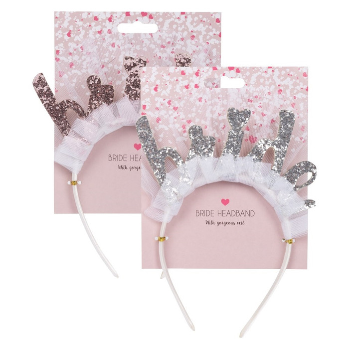 Bride Hen Party Headband in Silver or Rose Gold