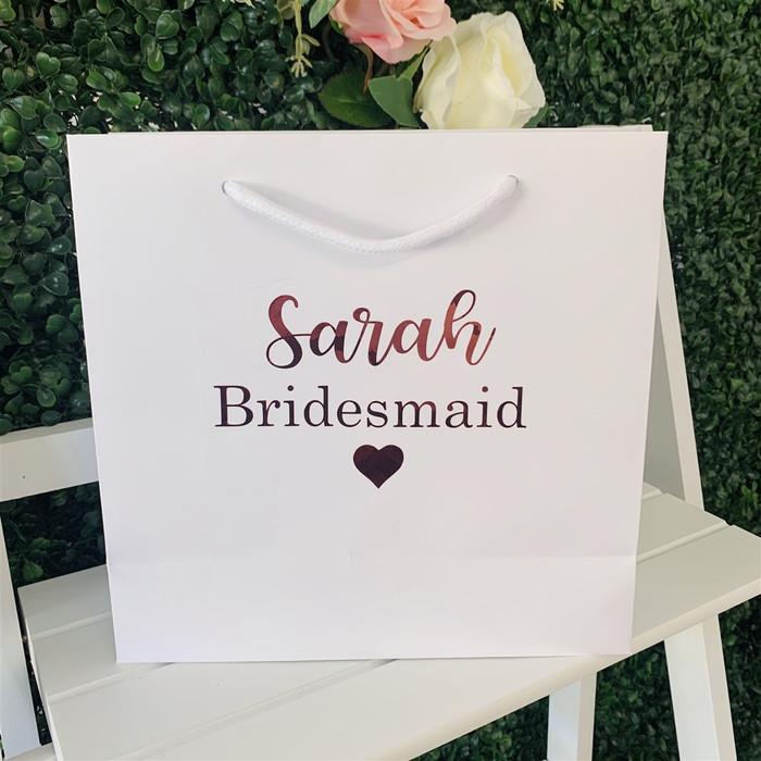 personalised white bag