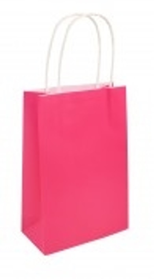 Party Bag, Hot Pink with Handles, 14Wx21Lx7Dcm