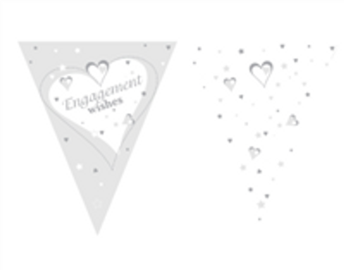 Engagement Wishes Flag Bunting