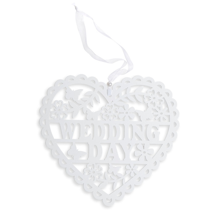 Wooden Wedding Day Heart