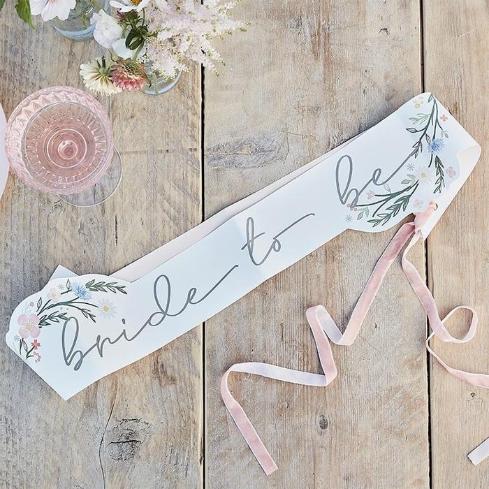 Boho Floral -Bride To Be Sash