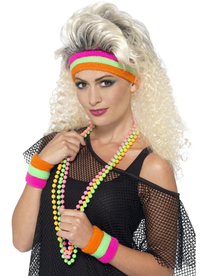 Sweatbands, Neon, with 1 Headband & 2 Wristbands