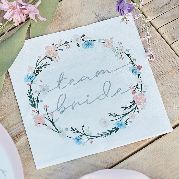 Floral Eco Friendly Paper Napkins - Boho