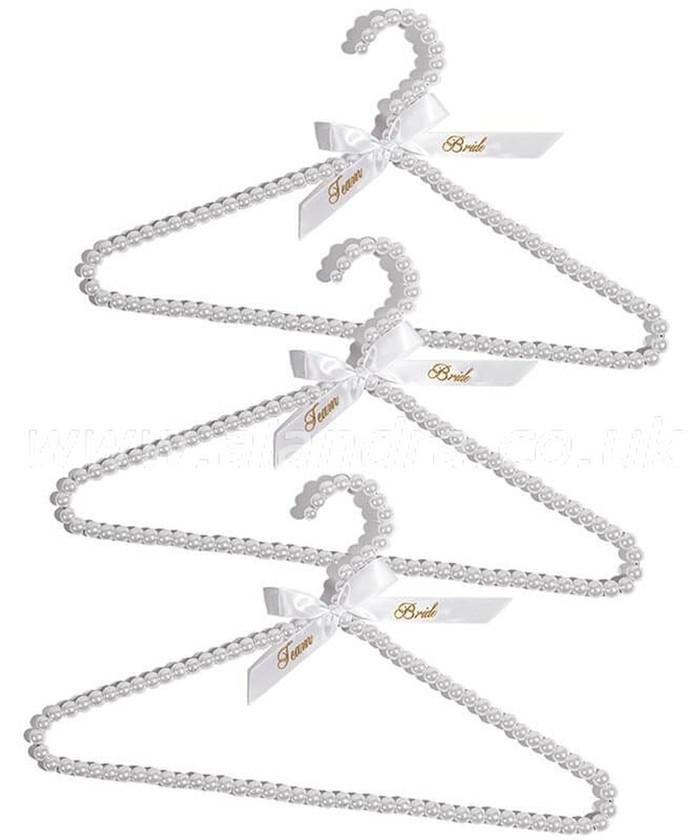 Team Bride Beaded Hangers, set of 3