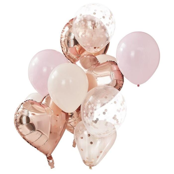 Blush & Rose Gold Balloons