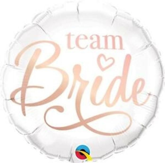 "18"" Team Bride Rose Gold Foil Balloon (1)"