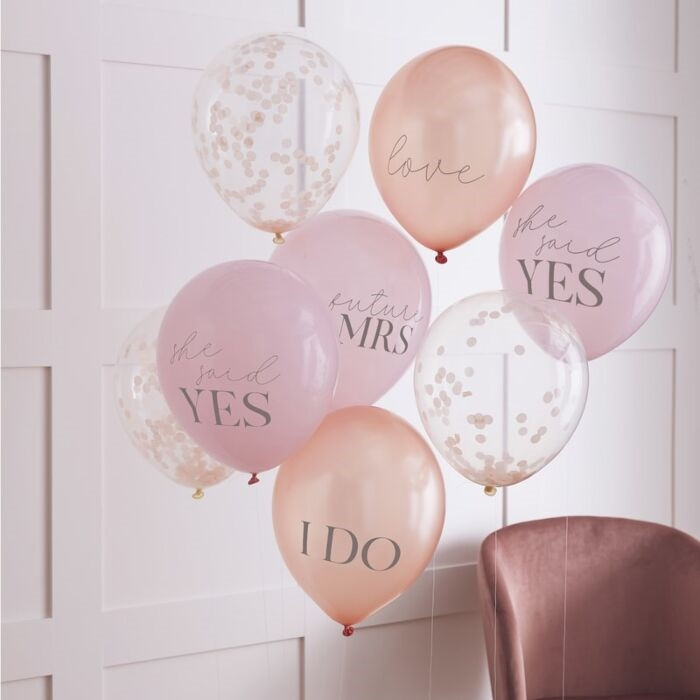 Blush - Mixed Pack of Hen Party Balloons